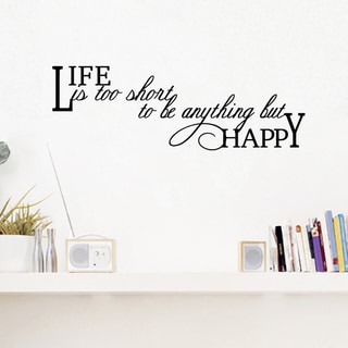 Link to Life Is Too Short Wall Decal 30 inches wide x 10 inches tall Similar Items in Vinyl Wall Art
