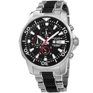 Akribos XXIV Men's Bold Chronograph Two-Tone Stainless Steel Bracelet Watch
