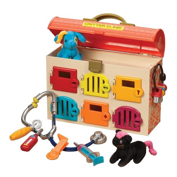 B. Toys B. Critter Clinic Toy Vet Play Set