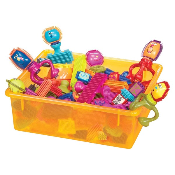 B. Toys B. Spinaroos Bristle Blocks