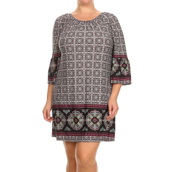 75ed94d5e5b Shop MOA Collection Women s Plus Size Kimono Sleeve Short Dress - On ...