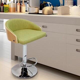 Green Adjustable plywood Barstool