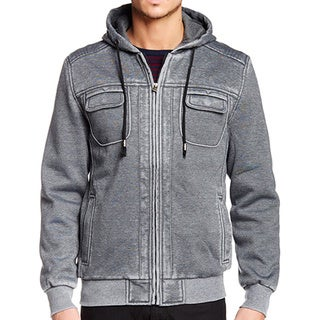 XRay Men's Burnout Fleece Zip-Up Jacket