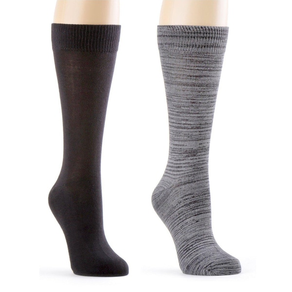 High Quality Super Soft Men's Dress Crew Sock 2 Pk - With Gift Bow