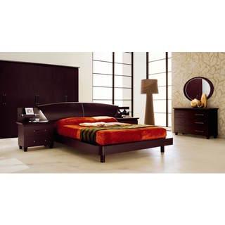 Luca Home Wenge 3pc Bedroom Set