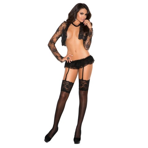 Elegant Moments women's sheer thigh-highs in One Size