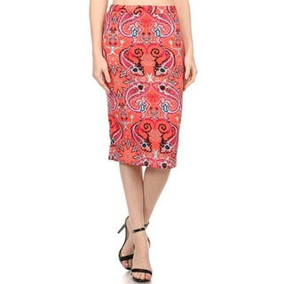 MOA Collection Women's Paisley Pencil Skirt