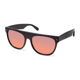 Cynthia Rowley Eyewear Unisex CR6007_w No. 41 Black Square Plastic Sunglasses