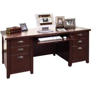 Tansley Landing Cherry Double Pedestal Executive Desk|https://ak1.ostkcdn.com/images/products/11193453/P18184256.jpg?impolicy=medium
