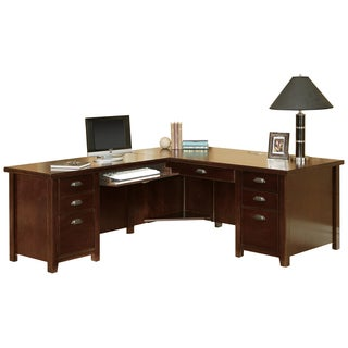 Tansley Landing Cherry Left L-Shaped Desk