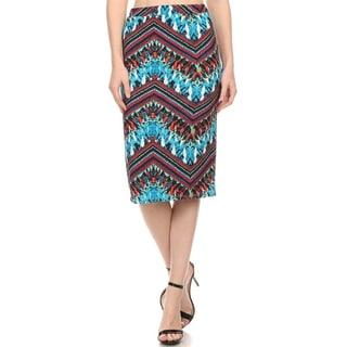 MOA Collection Women's Pattern Print Pencil Skirt
