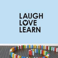 Laugh Love Learn Wall Decal 36 inches wide x 30 inches tall