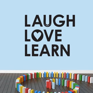Laugh Love Learn Wall Decal 48 inches wide x 40 inches tall
