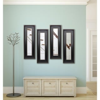 American Made Rayne Black With Silver Caged Trim Mirror Panel