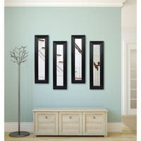 American Made Solid Black Angle Mirror Panel