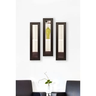 American Made Rayne Espresso Bricks Mirror Panel