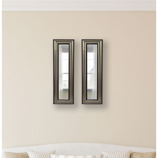 American Made Antique Silver Mirror Panel - Black/Silver