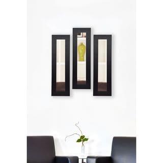American Made Rayne Black Satin Wide Mirror Panel