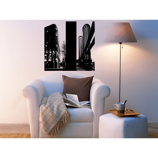 shop seattle skyline wall art sticker decal free shipping on