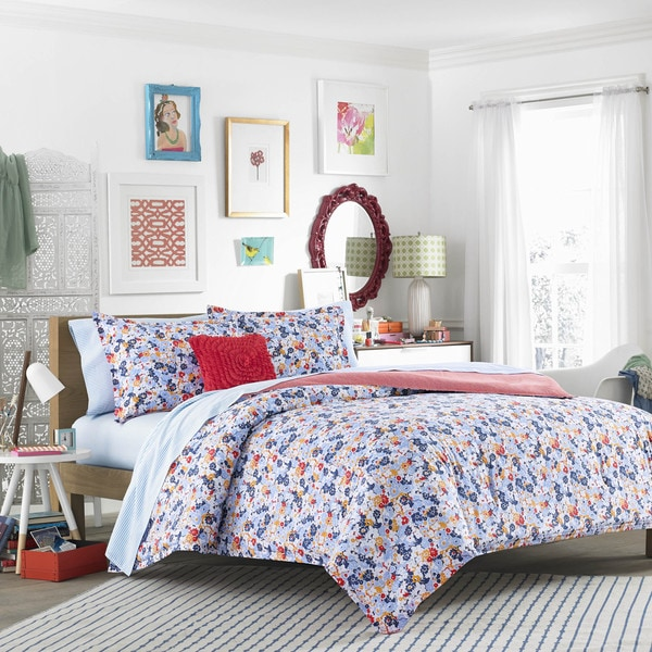 Shop Teen Vogue Floral Frenzy 3-piece Comforter Set - Free Shipping ...
