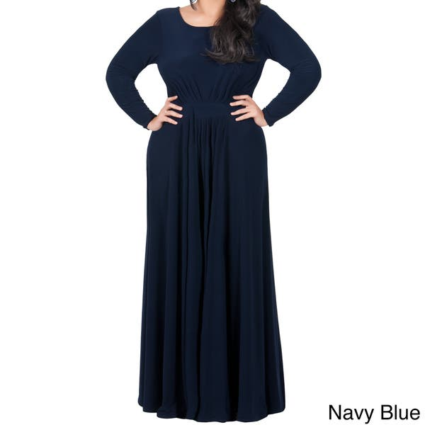 Shop KOH KOH Womens Plus Size Empire Waist Evening Maxi ...