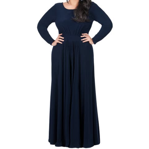 KOH KOH Womens Plus Size Empire Waist Evening Maxi Dress