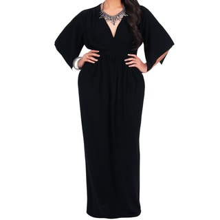 Koh Koh Women's Plus Size Empire Waist Maxi Dress