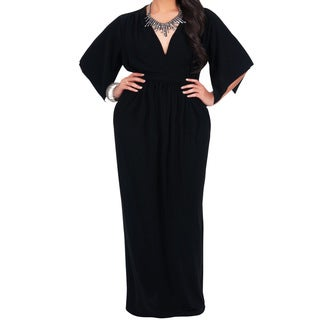 Koh Koh Women's Plus Size Empire Waist Maxi Dress (More options available)