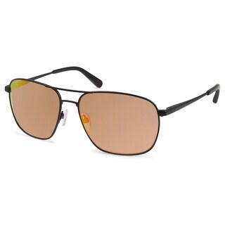 Cynthia Rowley Eyewear Unisex CR6014 No. 30 Black Round Metal Sunglasses