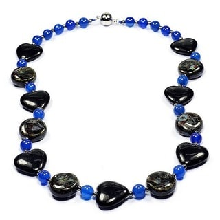Madame Earth Black Onyx Heart Handmade Gemstone Necklace
