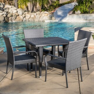 Outdoor Delani 5-piece Wicker Dining Set by Christopher Knight Home (2 options available)
