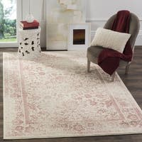 Safavieh Adirondack Dakota Ivory / Rose Distressed Rug - 4' x 6'