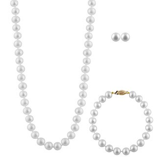 Freshwater Pearl 3-piece Set (7-8 mm)
