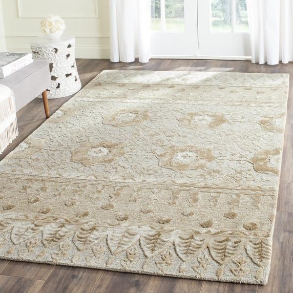 Safavieh Handmade Allure Ivory Wool Rug (4' x 6')