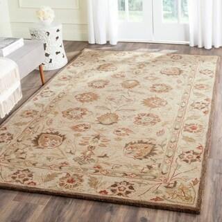 Safavieh Handmade Antiquity Beige/ Beige Wool Rug (4' x 6')
