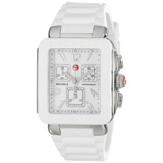 Michele Women's MWW06L000001 'Park Jelly Bean' Chronograph White Stainless Steel Watch
