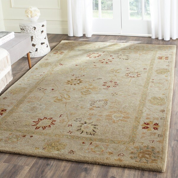 Safavieh handmade antiquity taupe beige wool rug 4 39 x 6 39 free shipping today overstock - Beige slaapkamer taupe ...