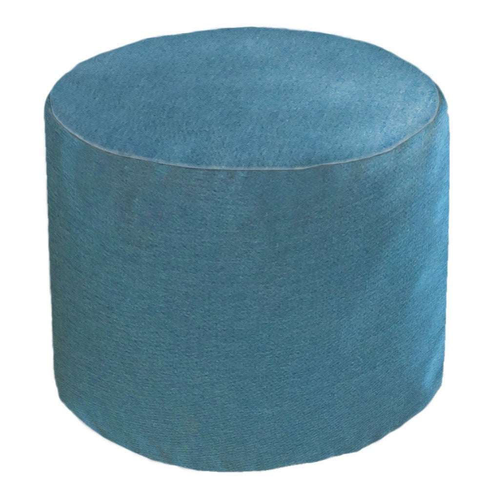 Core Outdoor/ Indoor Sunbrella Round Cast Lagoon Pouf (Ca...