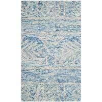 Safavieh Handmade Chatham Blue/ Ivory Wool Rug - 3' x 5'