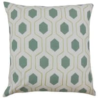 Flynn Geometric 18-inch Down and Feather Filled Throw Pillows