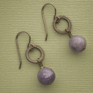 Soaring Lilac Stone Earrings