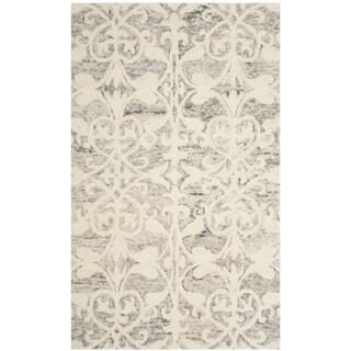 Safavieh Handmade Chatham Light Grey/ Ivory Wool Rug (3' x 5')