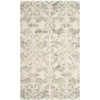 Safavieh Handmade Chatham Light Grey/ Ivory Wool Rug - 3' x 5'