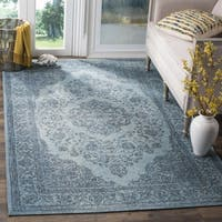 Safavieh Classic Vintage Overdyed Blue Cotton Distressed Rug - 3' x 5'