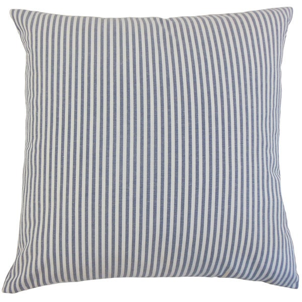 Ira Stripes 18-inch Down and Feather Filled Throw Pillows