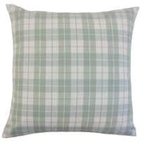 Joss Plaid 18-inch Down and Feather Filled Throw Pillows