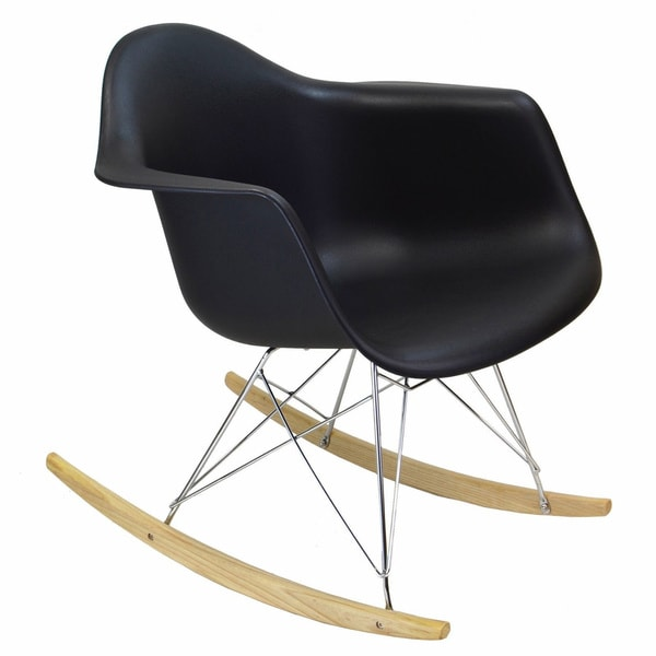 retro eames style rocking chair free shipping today. Black Bedroom Furniture Sets. Home Design Ideas