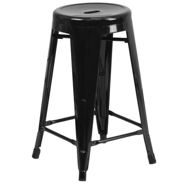 Tremendous Shop 24 Inch High Backless Metal Indoor Outdoor Counter Uwap Interior Chair Design Uwaporg