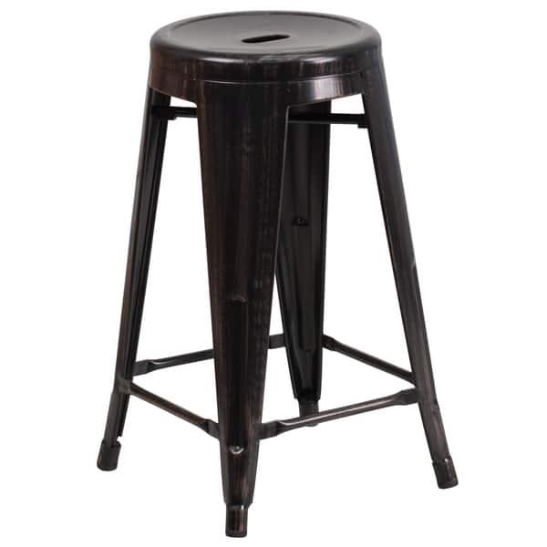 Groovy Shop 24 Inch High Backless Metal Indoor Outdoor Counter Uwap Interior Chair Design Uwaporg