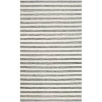 Safavieh Hand-Woven Dhurries Grey/ Ivory Wool Rug - 3' x 5'